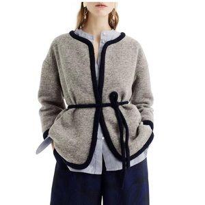 J.Crew Women's Gray Wrap Jacket In Boiled Wool